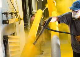 applying yellow powder coating for steel in australia
