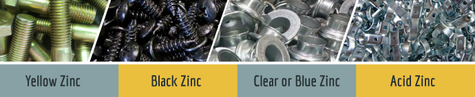 types of zinc coating