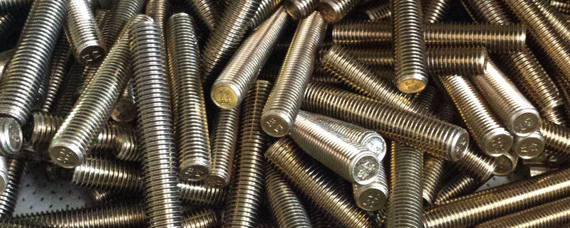 Zinc coating bolts