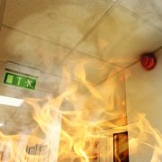 Intumescent paint on ceilings, walls, and structural elements upgrades the fire resistance of a building.