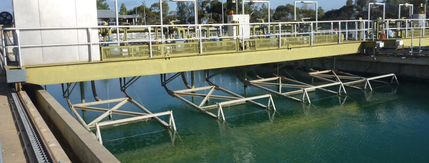 chemical resistant coating applied in water processing plant