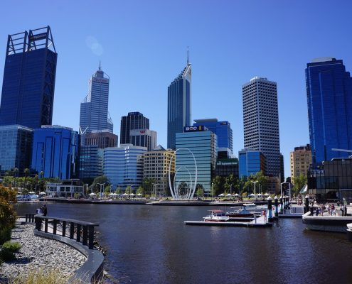 Perth, buildings and water