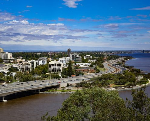 CIty of Perth, buildings, coatings and water