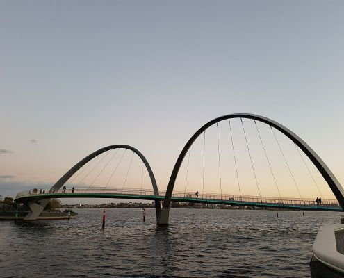 industrial coatings on a bridge structure in Perth
