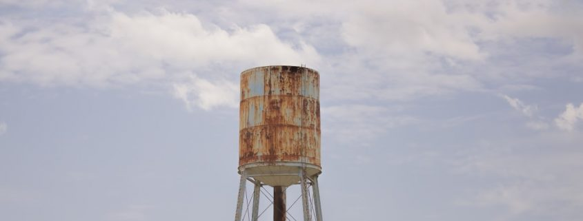Water tank linings rusty tank