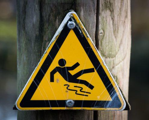 anti slip coating melbourne needed, warning sign