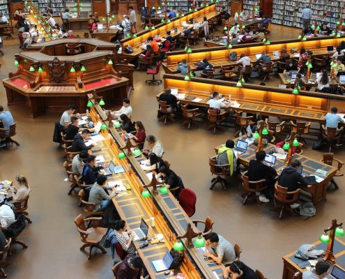 floor coating in a library in australia