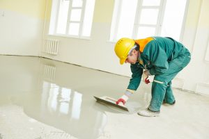 concrete floor coatings applied on a floor as concrete paint