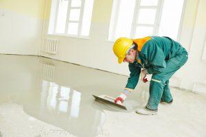 concrete floor coatings applied on a floor as concrete paint
