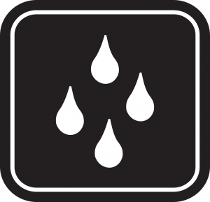 sign of water resistance in water resistant coating