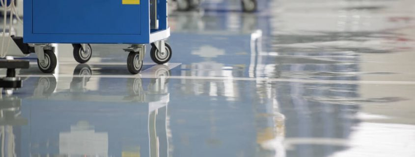 Epoxy coatings applied on industrial floor