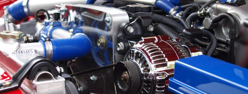 automotive powder coating for under the hood, on an engine