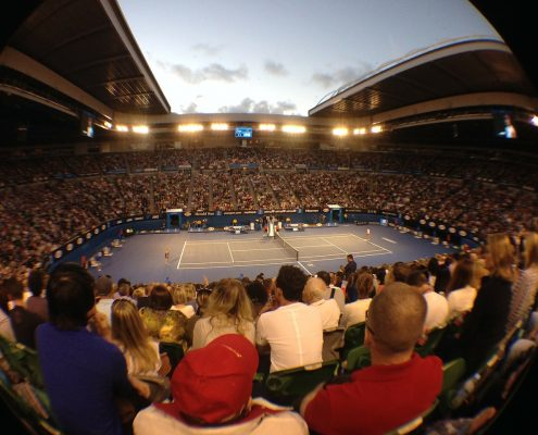 Intumescent paint on the Rod Laver Arena protects visitors and players from the risk of fire.