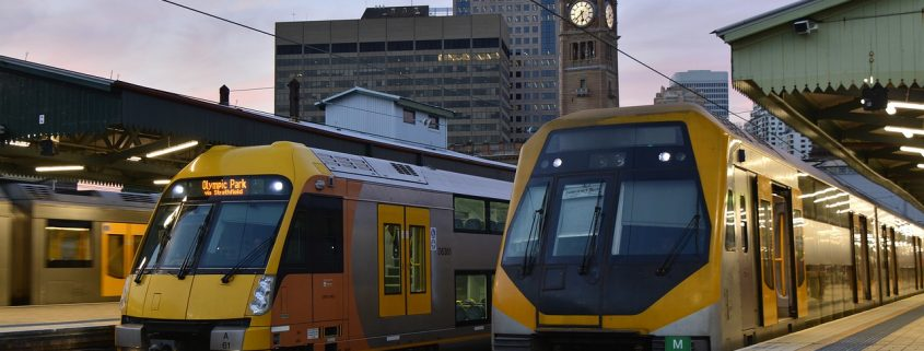 Powder coating Sydney trains provides high performance protection and an attractive finish.