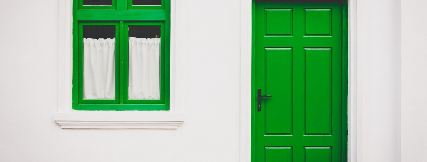 Enamel paint is used to give a hard, glossy finish to window and door frames