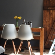The light in a room will affect which grey paint is the best for the space.